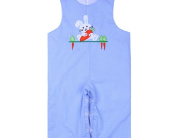 Bunny with Carrot Blue Longall