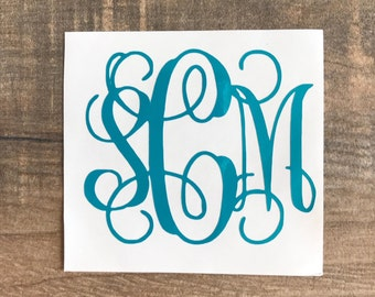Monogram Decal, Decals, Monograms, Monograms for Yeti's, Monograms for Cups, Personalizing Sticker