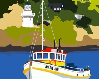 The Akaroa Lighthouse Digital Print - wall art, poster art, digital image
