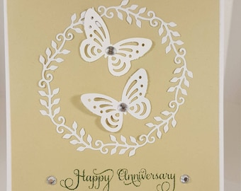 Anniversary Card - Happy Anniversary Card - Butterfly Anniversary Card