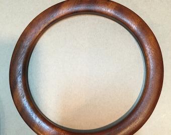 Round Wood Purse Handles - Set of 2