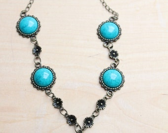 Unique vintage bronze cameo necklace