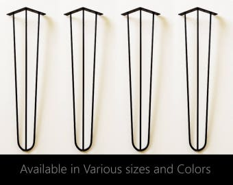 Hairpin Legs set of 4, coffee table legs, table legs, metal table legs, hair pin legs, industrial, modern