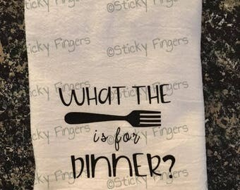 What the fork is for dinner- dish towel