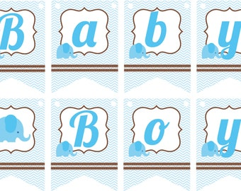 Banner Baby Boy, baby boy shower, banner flags
