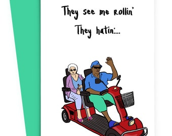 Cool Grandparent Card - Funny Birthday card - Parent grandparent Card - Pop Culture card