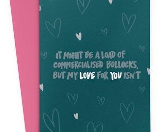 Valentines Day Card - Boyfriend Card - Rude Valentines - Alternative Valentines Card - BLUE Valentines Day