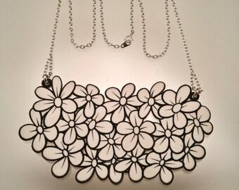 Daisy Necklace / Shrinky Dink Necklace / Illustration Necklace