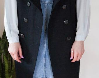 Vintage Wool Long Vest