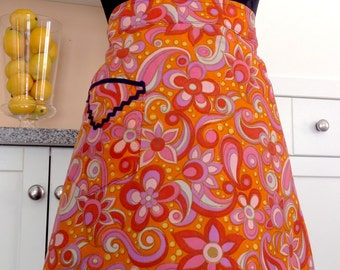 Flower Power Vintage Apron