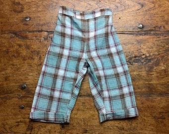 Multicheck Trousers, pure linen