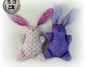 Vintage Style Stuffed Animal Bunny Set - Ready to Ship