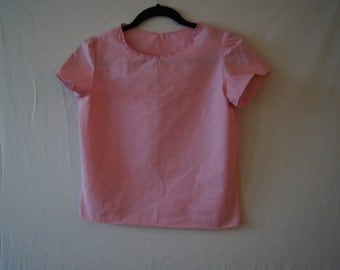 Pink top,top,Size 14,cotton top, Girls top,womens top,