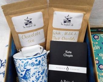 Hot Chocolate & Chocolate Tea with Kate Chopin Book Gift Box