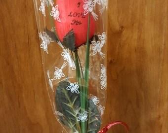 """Single Rose """"I Love you"""""""