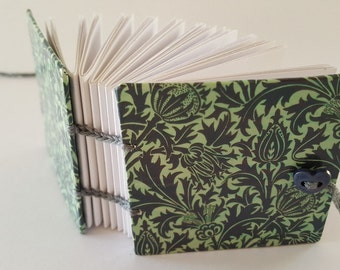 Small Handmade Coptic-bound Mulberry Thistles notebook