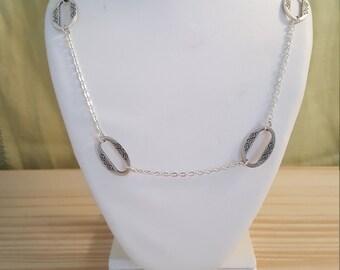 Colorado River Necklace // Southwestern Silver Chain Necklace