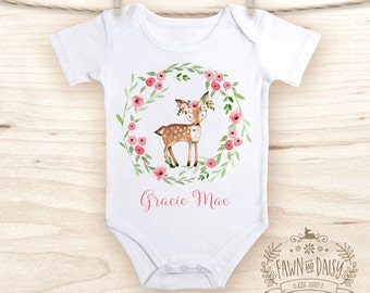 Personalized Baby Girl Onesie® - Baby Shower Gift for Girl - Cute Baby Girl Clothes