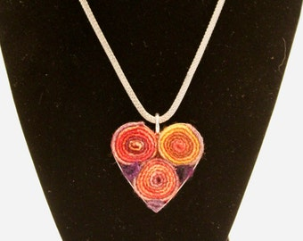 Multi colored heart pendant