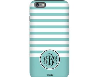 Monogram iPhone 5C Case - Stripes iPhone 7 Case - Cute iPhone SE Cover - iPhone 5S Case - iPhone 4S Case - iPhone 7 Plus Case - iPod 5g Case