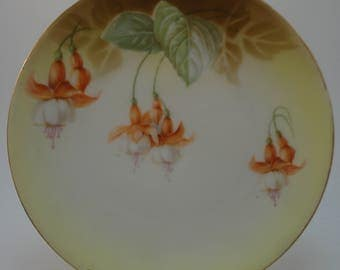 Antique Fushcia Plate, Lovely, Unusual, RS Tillowitz, 1930s