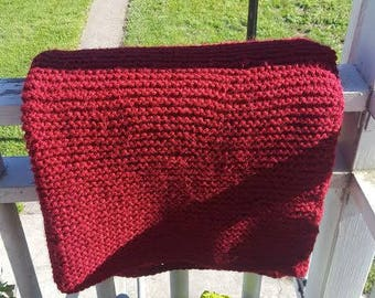 Chunky Knit Throw Blanket // Wine // Cozy Home Decor Afghan