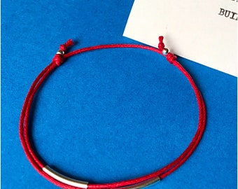 Tube Charm Bracelet. Sterling Silver Charm. Friendship Bracelet. Keep It Simple!