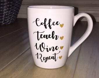 Teacher coffee mug/Teacher Decal