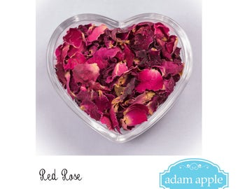 Red Rose Natural Dried Real Petal Biodegradable Wedding Confetti 1 litre