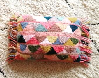 Woven wool cushion