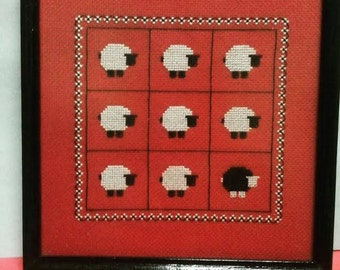 Needlepoint / Cross-stitch Black Sheep