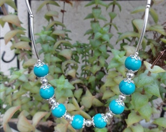 Elen - Turquoise necklace Tibetan and silver Sterling 925