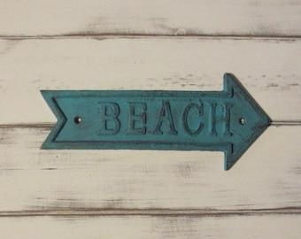 Cast Iron Beach Arrow Shabby Chic Chalk Paint