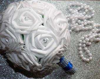 Romantic Silk Flower Wedding Bridesmaid Bouquet