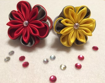 Kanzashi Set of 2 ponytail holders