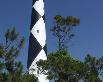Cape Lookout Lighthouse Outerbanks North Carolina CU - Canvas Gallery Wrap
