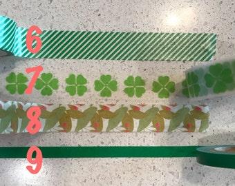Green Washi Samples