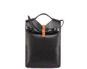 Handmade Leather Shoulder Bag, leather Handbags Women, Black leather Handbag, Black Leather Messenger Bag Ladies Handbags Leather Office Bag