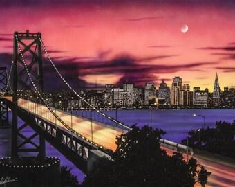 San Francisco Bay Bridge (print)