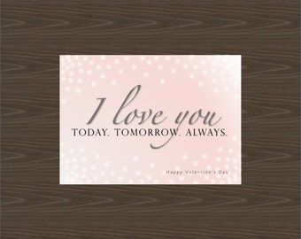 Valentine's Day Card - Instant Digital Download - Printable