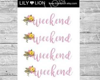 Weekend Mini Sticker sheet Planner Stickers - Planner Decorations - Kikki-K -Plum Paper Planner - PPP - Erin Condren Sticker Sets