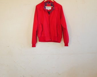 Vintage 90s Red Flannel Lined Lightweight Jacket with Pockets - Field & Stream - Women's Large