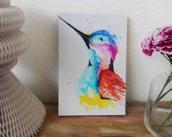 Hummingbird art print, print, print