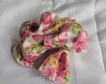 Cotton Flower Bloom Hair Bow