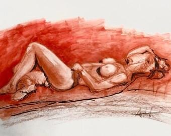 Figure Study - Red