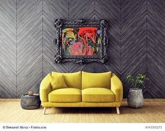"Painting flowers series ""Night flower"" painting flowers series ""Night Flowers"""