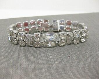 Vintage 1950's Signed Eisenberg Ice Rhinestone Bracelet
