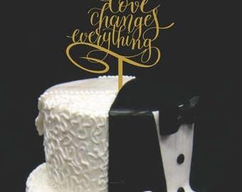 Wedding Cake Topper, Anniversary Cake Topper, Engagement Cake Topper