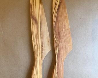 olive wood salad knife