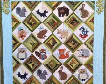 Forest Friends: Hide & Seek Applique Quilt Pattern